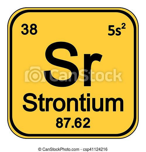 Periodic Table Element Strontium Icon Periodic Table Element