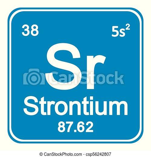 Periodic Table Element Strontium Icon Periodic Table Element
