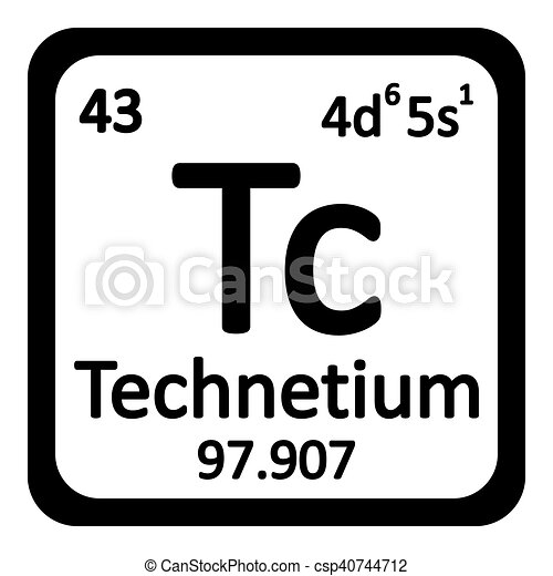 Periodic table element technetium icon periodic table element periodic table element technetium icon csp40744712 urtaz Images