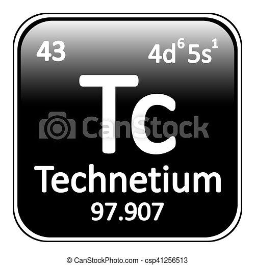 Periodic table element technetium icon periodic table element periodic table element technetium icon csp41256513 urtaz Images