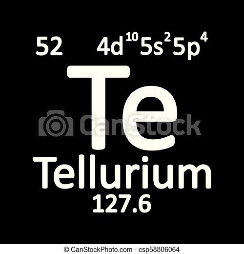 Periodic Table Element Tellurium Icon Periodic Table Element