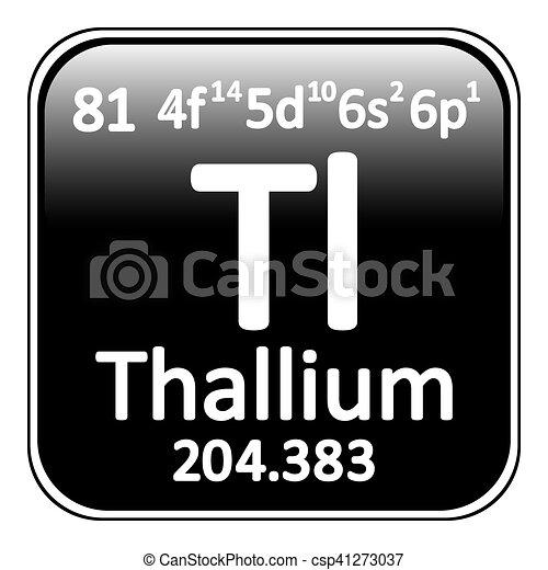 Periodic table element thallium icon periodic table element periodic table element thallium icon csp41273037 urtaz Choice Image