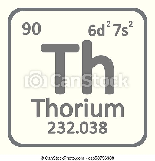 Periodic Table Element Thorium Icon Periodic Table Element Thorium