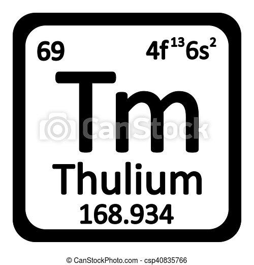 Periodic table element thulium icon periodic table element clip periodic table element thulium icon csp40835766 urtaz Gallery