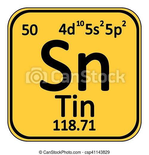 Periodic Table Element Tin Icon Periodic Table Element Tin Icon On