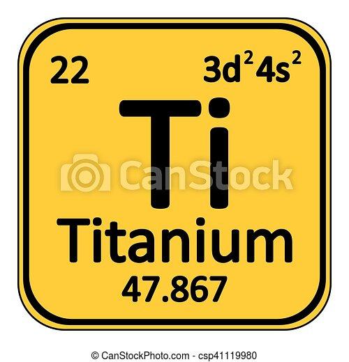 Periodic table element titanium icon periodic table element periodic table element titanium icon csp41119980 urtaz Gallery