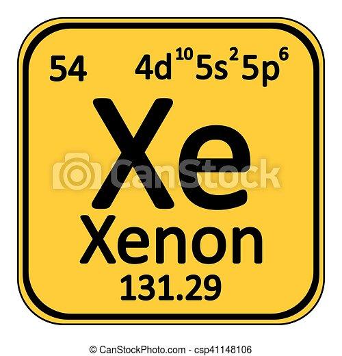Periodic table element xenon icon periodic table element vector periodic table element xenon icon csp41148106 urtaz Images