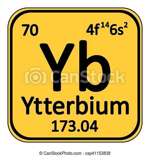 Periodic table element ytterbium icon periodic table element periodic table element ytterbium icon csp41153838 urtaz Images