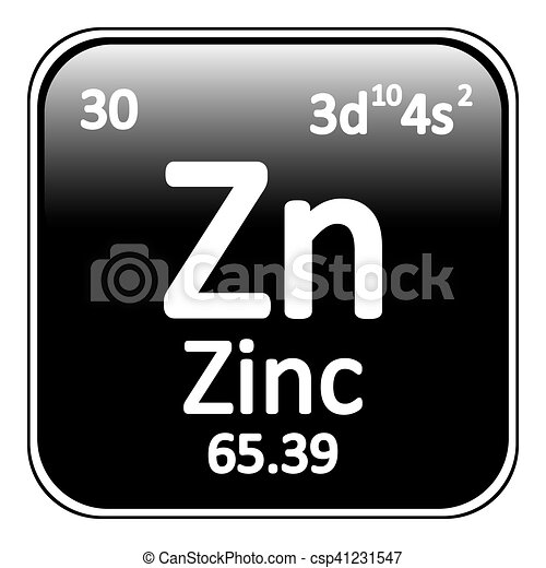 Periodic Table Element Zinc Icon Periodic Table Element Zinc Icon