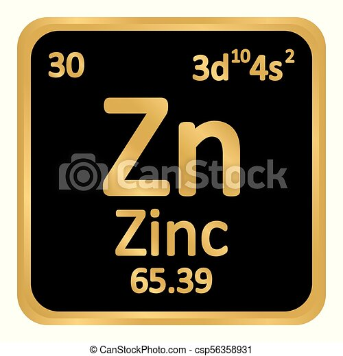 Periodic Table Element Zinc Icon Periodic Table Element Zinc Icon
