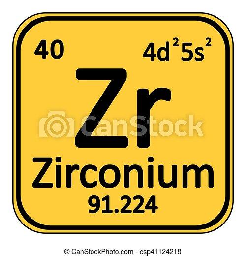 Periodic Table Element Zirconium Icon Periodic Table Element