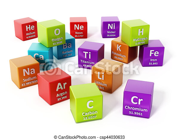 Periodic Table Elements 3d Illustration Periodic Table Elements
