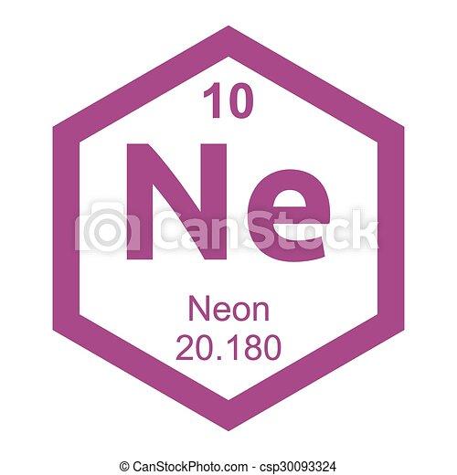 Periodic Table Neon Element