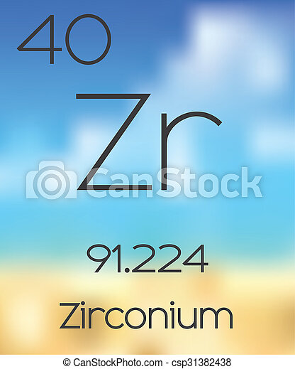 The periodic table of the elements zirconium periodic table of the elements zirconium csp31382438 urtaz Image collections