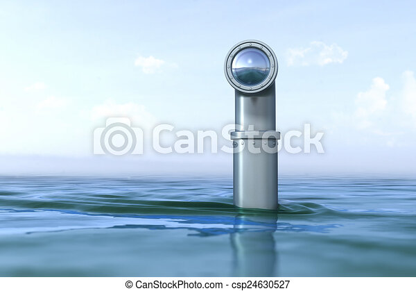 Periscope above the water  - csp24630527