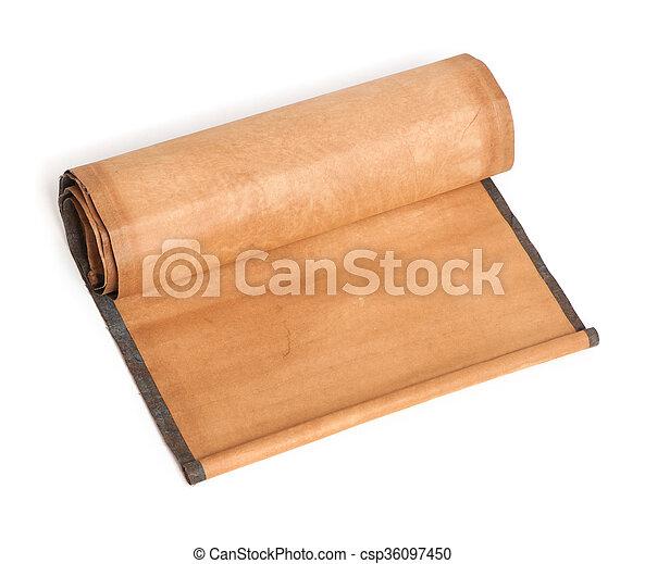 perkament, boekrol - csp36097450