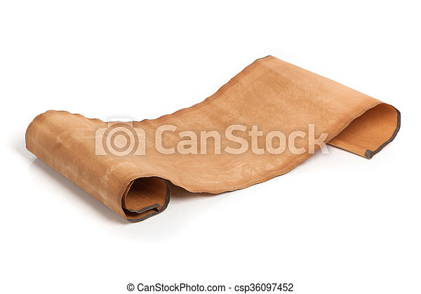 perkament, boekrol - csp36097452