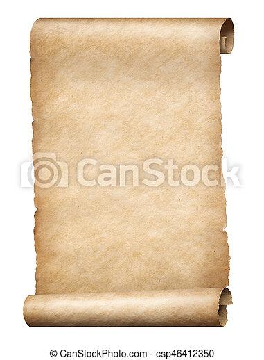 perkament, boekrol - csp46412350