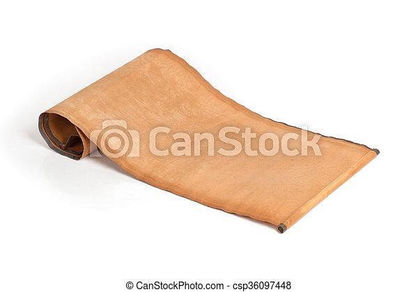 perkament, boekrol - csp36097448