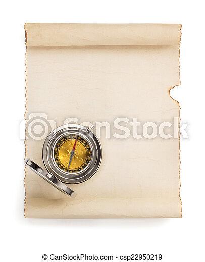 perkament, boekrol, witte  - csp22950219