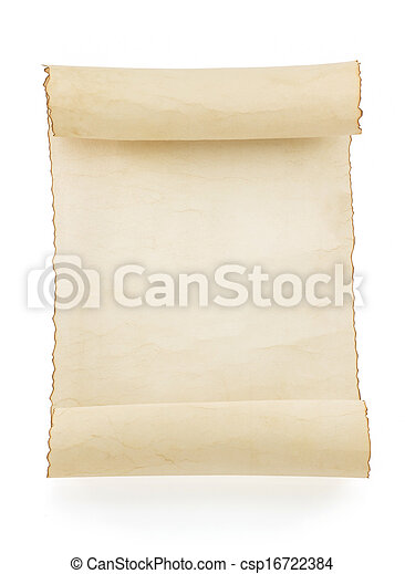 perkament, boekrol, witte  - csp16722384