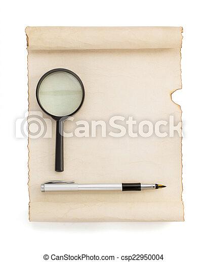 perkament, boekrol, witte  - csp22950004