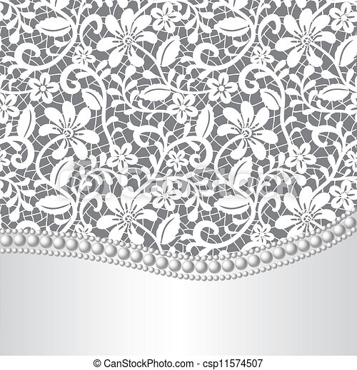 Lazo, seda y perla - csp11574507