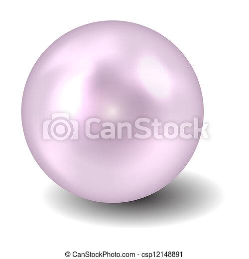 perla, vektor, ilustrace - csp12148891
