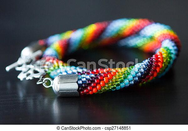 collier perle colore