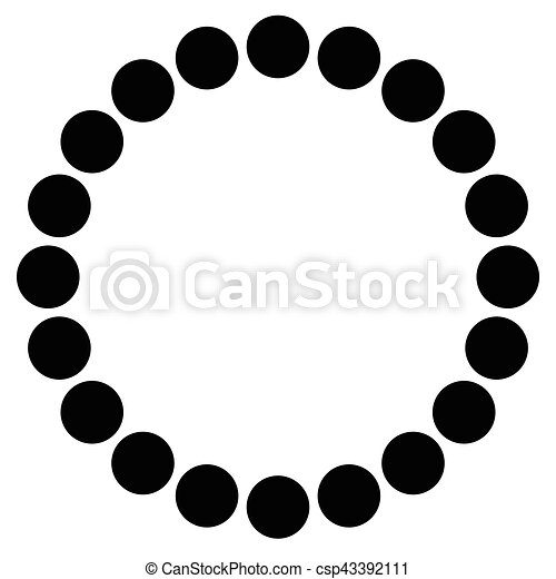 perles, symbolique, résumé, bracelet, forme., illustration, circles., concentrique, minimal, perles - csp43392111