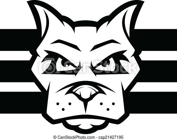Contorno Bulldog Perro Cara Norteamericano Toro Hoyo O