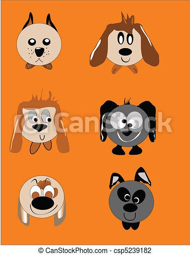 Perro Caricatura Caras Expresiones Vario Perro Tipos Caras