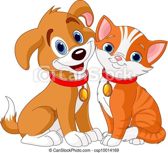 Clip art vectorial de perro gato  Illustration de mejores