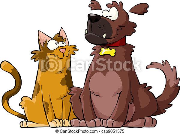 Perro y gato - csp9051575