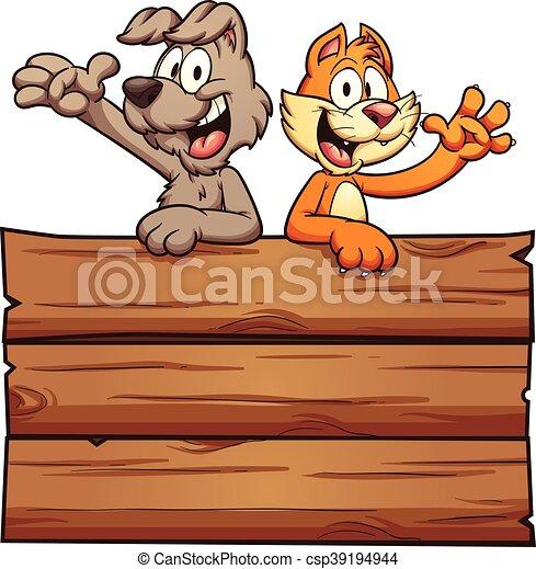 Gato y perro - csp39194944