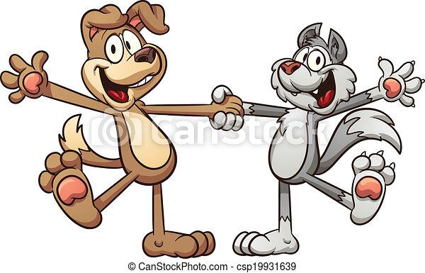 Gato y perro - csp19931639