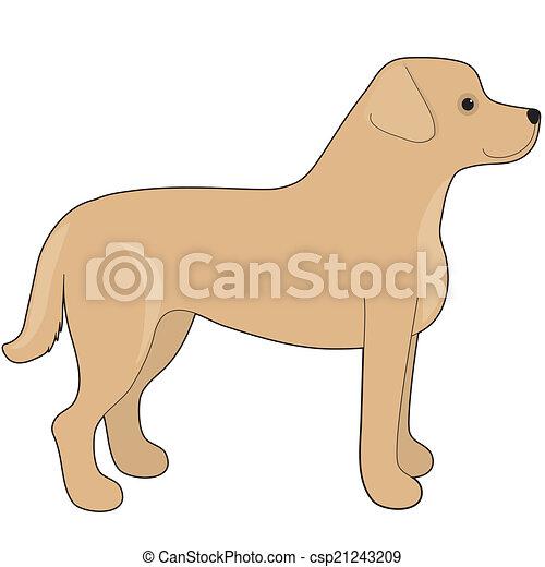 Clip art vectorial de perro labrador  A caricatura ilustracin