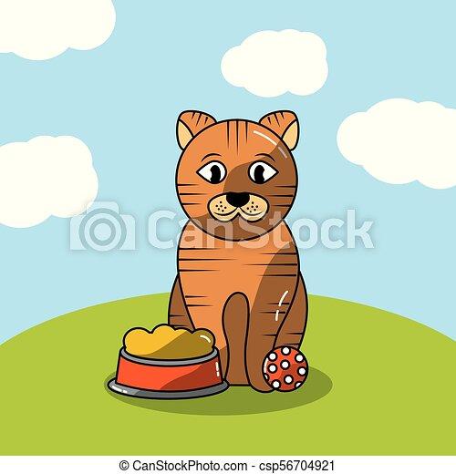 Mascotas perro y gato - csp56704921