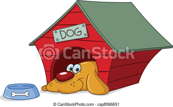 Perro en casa de perro - csp8066651