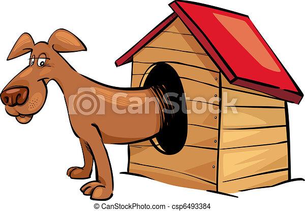 Perro en perrera - csp6493384