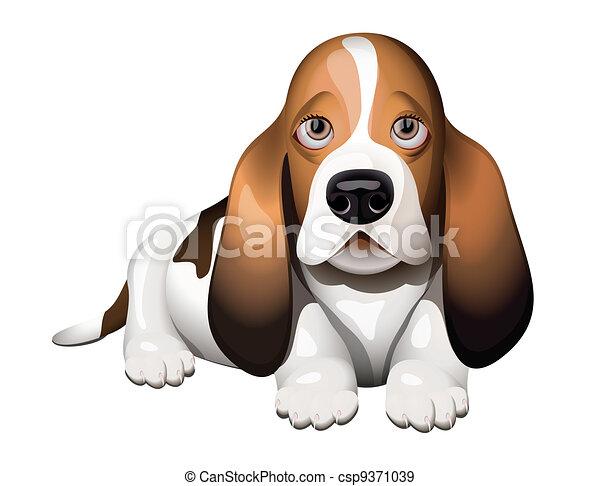 Grficos vectoriales EPS de perrobasset perrito  Basset Hound