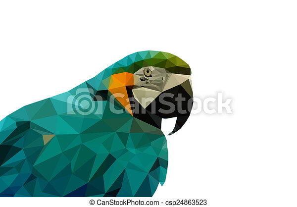 Perroquet Bas Poly