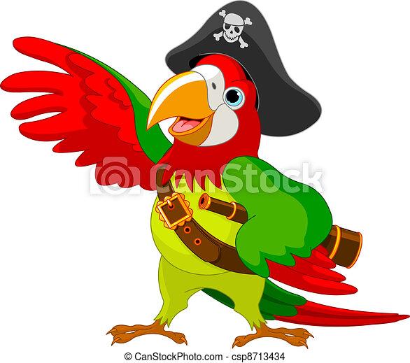 perroquet, pirate - csp8713434