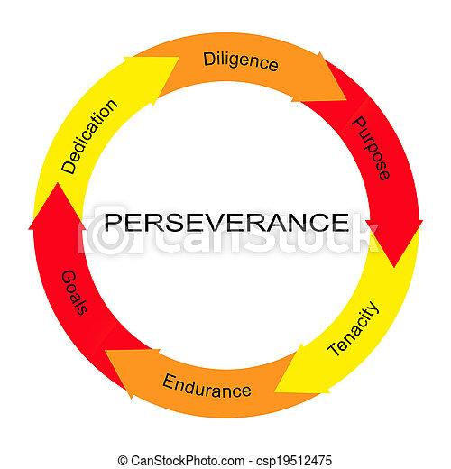 persévérance, cercle, concept, mot - csp19512475