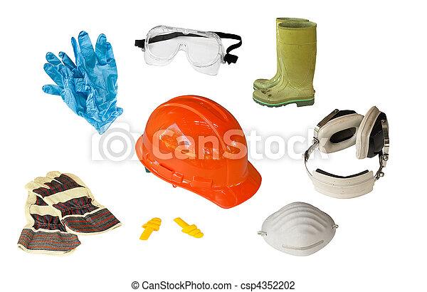 persönlich, ausrüstung, sicherheit - csp4352202