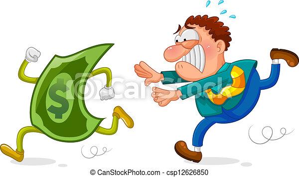 perseguição, dinheiro - csp12626850