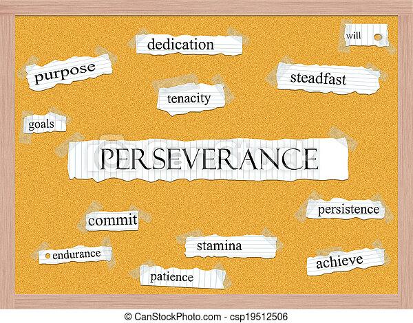 Un concepto de perseverancia de corcho - csp19512506