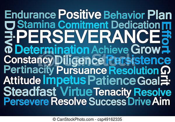 Palabra de perseverancia nube - csp49162335