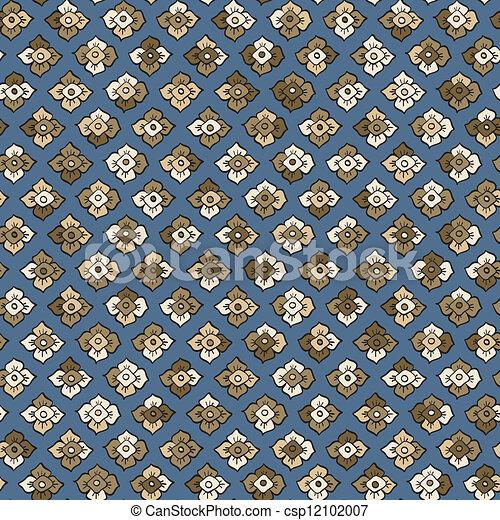 Persimmon seamless pattern vector - csp12102007