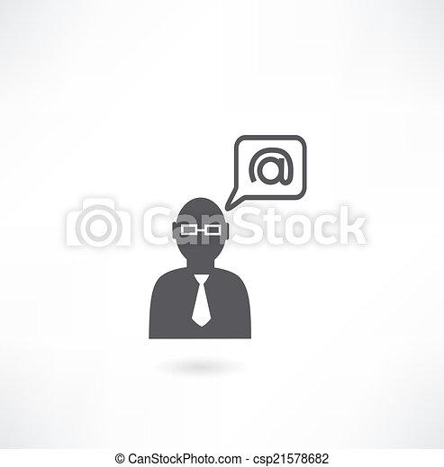 person and e-mail icon - csp21578682